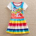 Аккуратные девочка платье my little pony хлопок летом ребенок платье девушка одежда детская одежда детей платье девочки одежда Q9113