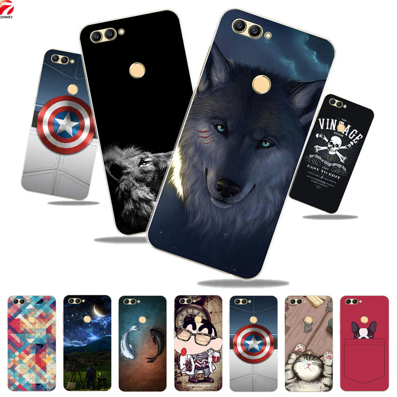 For ZTE Blade V9 Case 5.7 Cute Wolf Painted Soft Silicone TPU Phone Back Cover For ZTE B ...