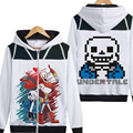 Game Undertale hoody Undertale sans and papyrus jacket coat zipper hoodies with print two sides
