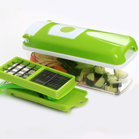 RSCHEF 12 Pcs Multifunctional Shredder Fruit Vegetable Peeler Potatoes Slicer Dicer Chopper Cutter Container Easy Kitchen