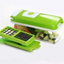 RSCHEF 12 Stücke Multifunktionale Schredder Obst Gemüseschäler Kartoffeln Gemüsehobel Dicer Chopper Cutter Container Einfache Küche Werkzeuge