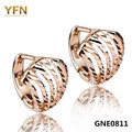 GNE0811 Genuine 925 Sterling Silver and Rose Gold Plated Small Hoop Earrings For Women Jewelry Silver Earrings in Shell Design