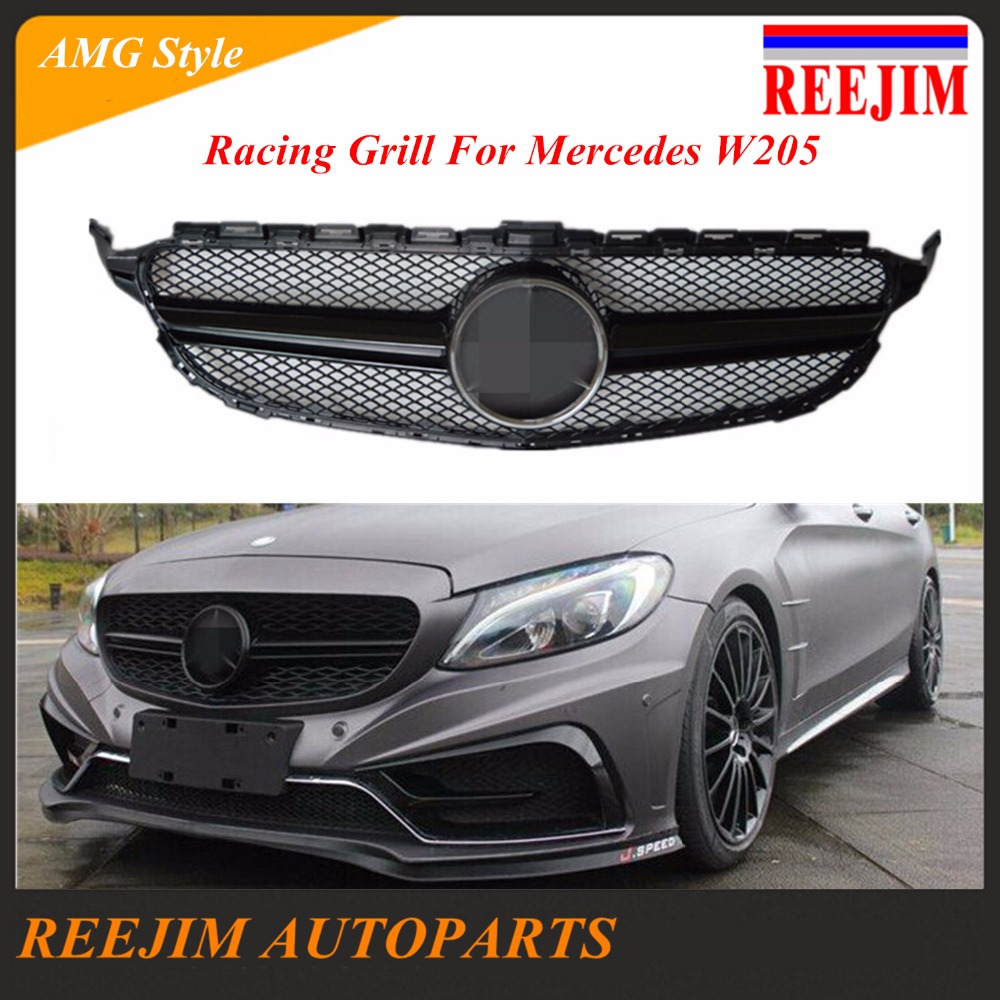 Mercedes C200 Sport: Aliexpress.com : Buy ABS Plastic Racing Grill For Mercedes