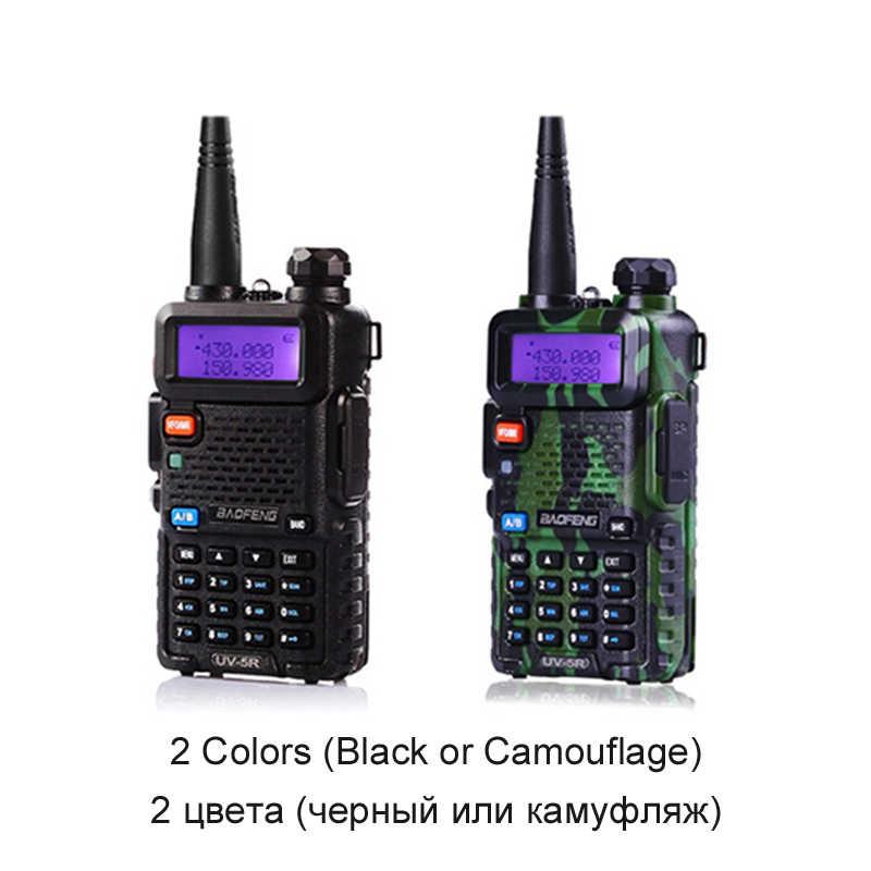 1 個/2 個トランシーバー Baofeng uv-5r ラジオ局から 5 ワットポータブル Baofeng uv 5r ロシアウクライナスペイン倉庫ラジオアマチュア
