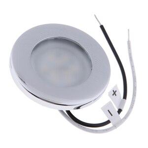 Image 5 - 1 adet LED yuvarlak çatı tavan iç kubbe ışık lambası tekne yat araba RV 3000k sıcak hafif paslanmaz çelik