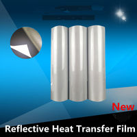 HOHOFILM 50cmx2500cm Reflective Heat Transfer Vinyl PU Safety/Reflective Heat press T shirt Vinyl 20''x82ft