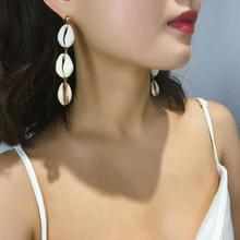 Za Beach Shell Long Dangle Earrings For Women Fashion Jewelry Earings Wedding Party Oorbellen Gifts Brincos