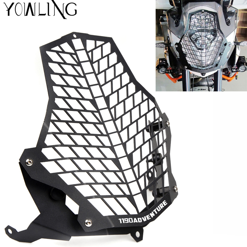 FOR KTM Motorcycle Headlight Protector Guard Lense Cover grill for KTM 1190 Adventure / 1190R 1290 Super Adventure 2015 2016 for ktm excr