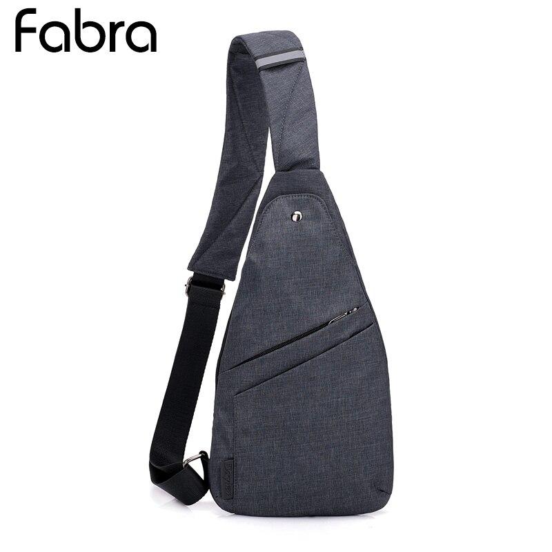 Fabra Men Sling Bag Casual Chest Shoulder Bags Men Crossbody Bags High Quality Chest Pack Travel Messenger Bag Male Bolsas