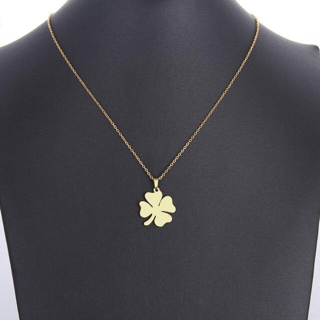 Купить ожерелье cacana из нержавеющей стали для женщин и мужчин ожерелье