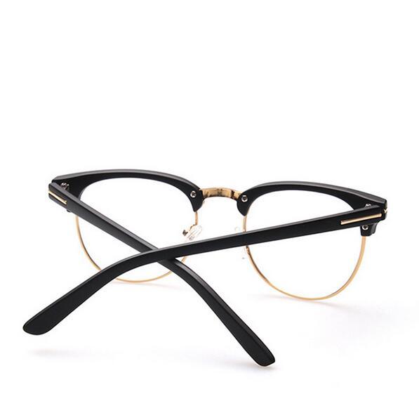 48103e1f43c High Quality Metal Decoration Eyeglasses Frame Men Women Optical Frames  Retro Half Rim Glasses Grame Female Golden Frame-in Eyewear Frames from  Apparel ...