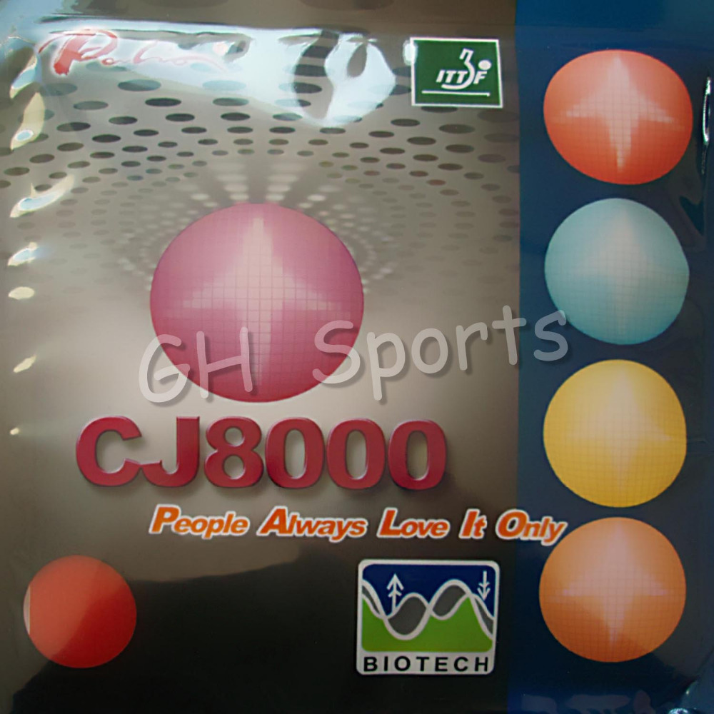 <font><b>Palio</b></font> <font><b>CJ8000</b></font> <font><b>BIOTECH</b></font> (2-Side Loop Type) Pips-In Table Tennis (PingPong) Rubber With Sponge (36-38 degree) image