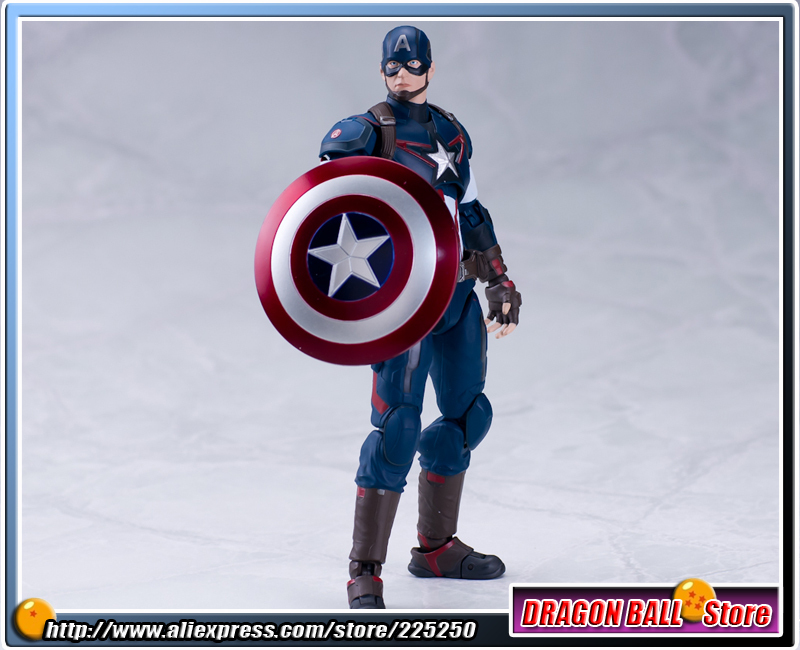 The Avengers 2 - Age of Ultron Original BANDAI Tamashii Nations SHF/ S.H.Figuarts Action Figure - Captain America anime captain america civil war original bandai tamashii nations shf s h figuarts action figure ant man