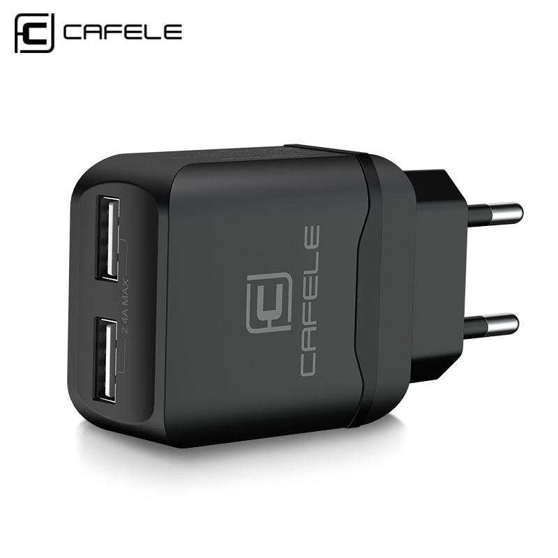 Cafele Portable Dual USB Charger EU/ US Universal DC 5V 2.4Ax2 12W Portable Charger For IPhone Samsung Phone Charger