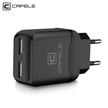 Cafele Portable Dual USB Charger EU/ US Universal DC 5V 2.4Ax2 12W for iPhone Samsung Phone