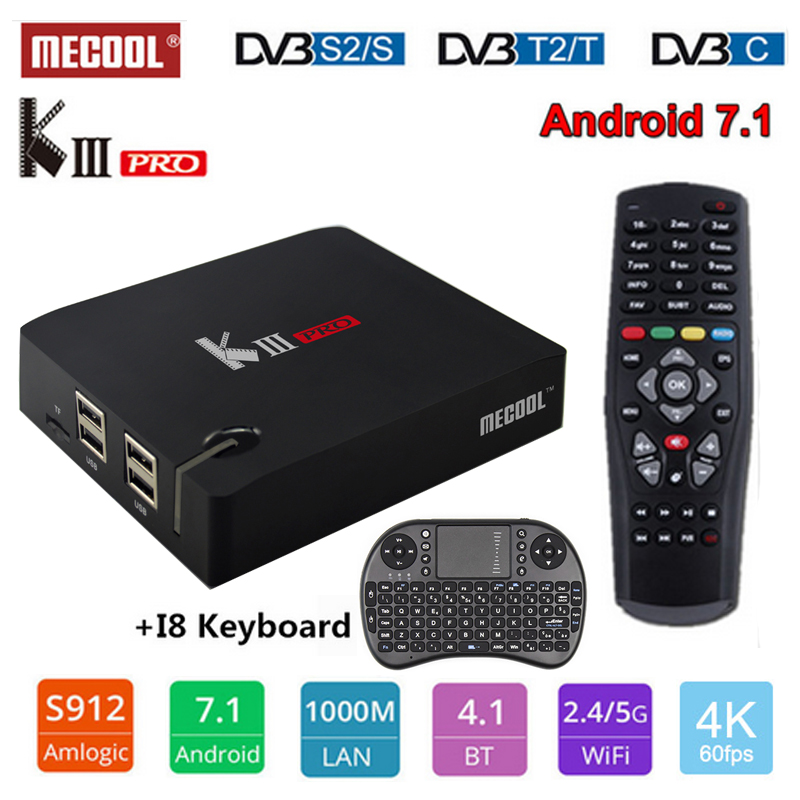 MECOOL KIII PRO S2+T2 DVB Android TV Box Amlogic S912 Octa Core 3G+16G 4K Bluetooth 4.0 2.4G/5G WiFi Media Player Set Top BoxMECOOL KIII PRO S2+T2 DVB Android TV Box Amlogic S912 Octa Core 3G+16G 4K Bluetooth 4.0 2.4G/5G WiFi Media Player Set Top Box