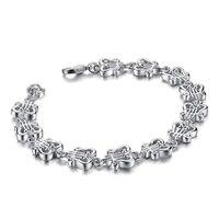 Personalidade da moda padrão instrumento pulseira sólida 925 sterling silver mulher pulseira atacado charme presente da jóia de prata
