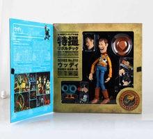 Juguete genial historia 4 Woody Buzz Lightyear NO.010 Sci-Fi Revoltech figuras de acción en miniatura de juguete historia 3 4 Woody recoger los regalos para los niños