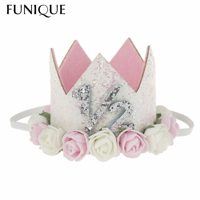 FUNIQUE Crystal Tiara Crown Hair Accessories for Kid Flower Children hair jewelry Silver ...