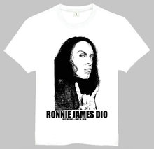 Free Shipping Old Time Design Ronnie James Dio Photo T-Shirt Mens Clothes Ronnie James Dio Top Tees Shirt