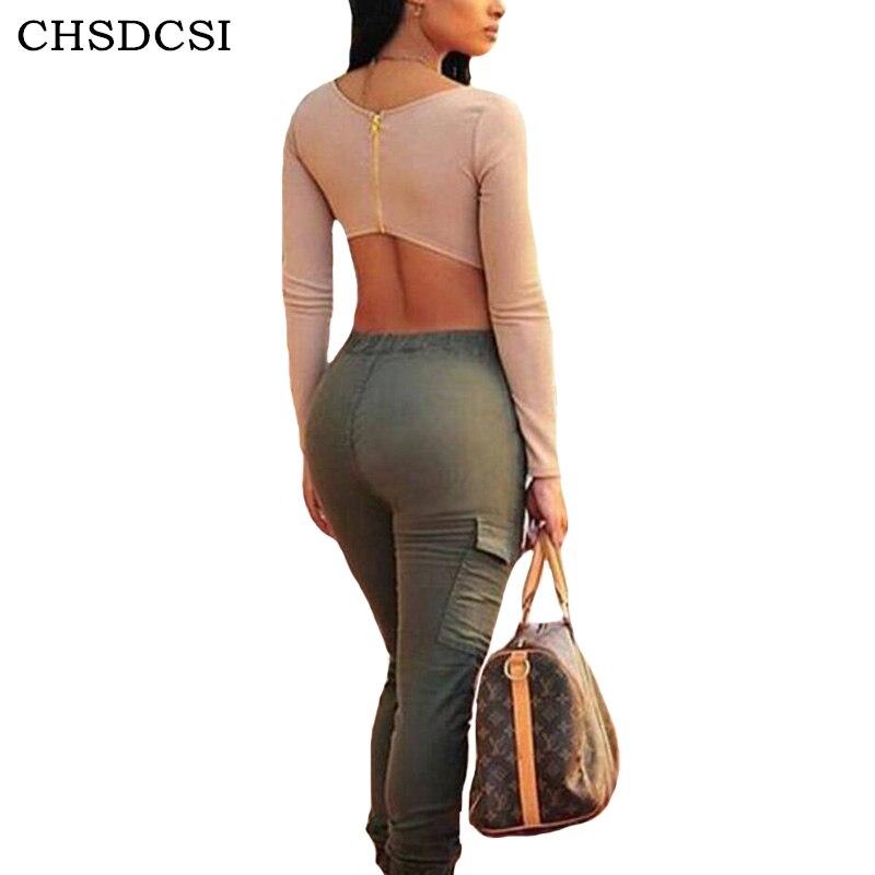 CHSDCSI Women Camo   Pants   Army Green Cargo   Pants   Middle Waist Fashion Streetwear Punk Female Drawstring   Capris   Plus Size Trousers