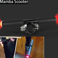 Adjustable Xiaomi Mijia M365 Electric Scooter Skateboard Children Kids Handle Grip Bag Bar Holder Knob with Safety Warning Light