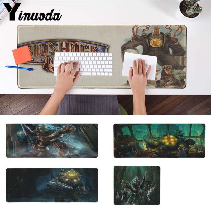 Yinuoda Hot Sales BioShock Game Silicone large/small Pad to Mouse Game Computer Gaming MouseMat Gamer Play Mats Version Mousepad