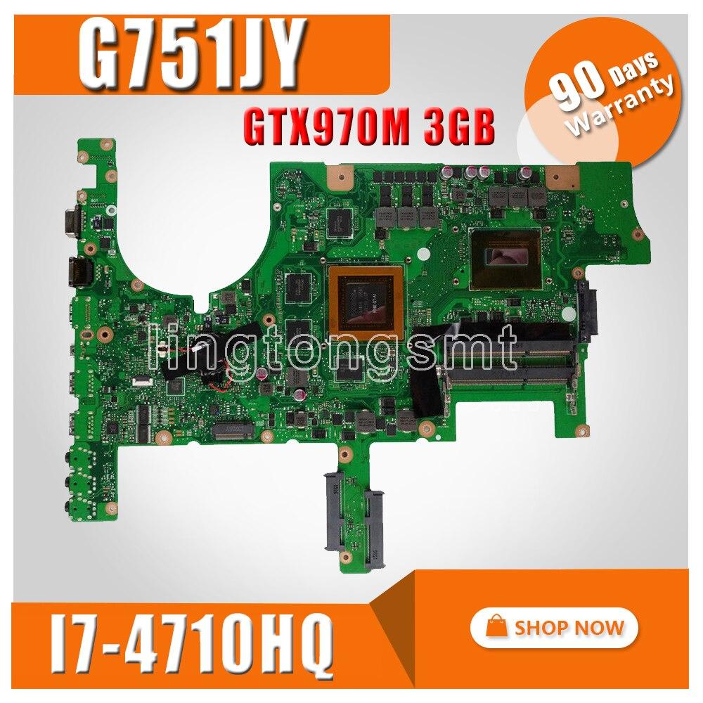 G751JY GTX 970 m/3 gb/I7-4710HQ Mère D'ordinateur Portable pour ASUS ROG G751 G751J G751JY G751JT G751JL G751JS notebook Carte Mère Rev 2.0