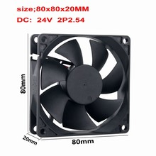 10 Pcs Gdstime DC Brushless Cooling Fan 80mm x 20mm 8cm 24V 2Pin PC Computer Case 80x80x20mm 24 Volts Cooler 80mm*80mm*20mm 8020