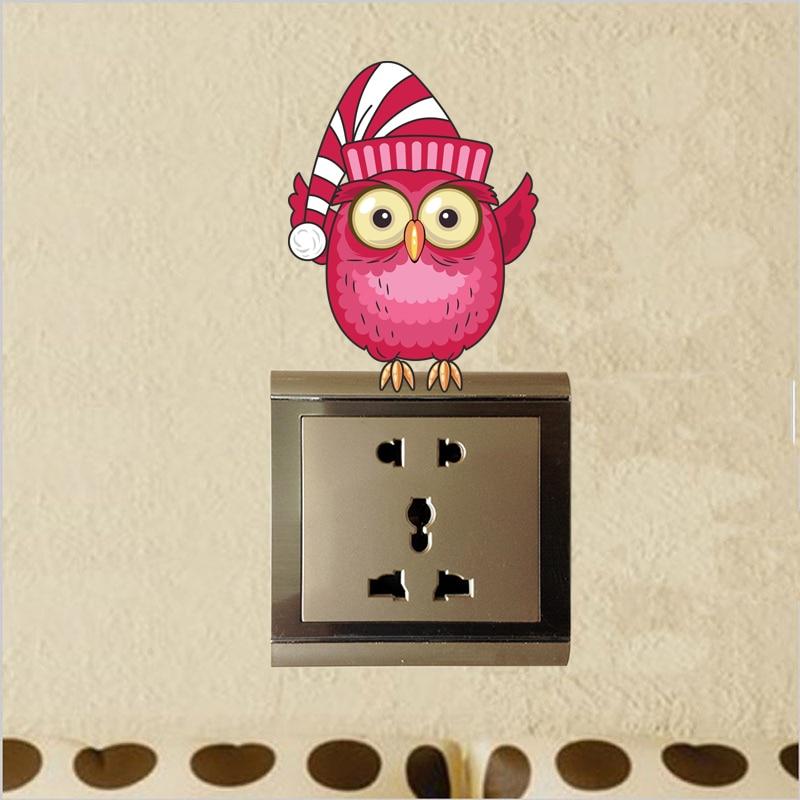 Beautiful Owl Switch Wall Decor Sticker Free Shipping