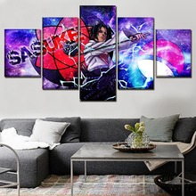 Wall Art Home Decorative Pictures Framework 5 Panels Anime Naruto Sasuke Uchiha Poster Modern Artwork Canvas HD Print Painting