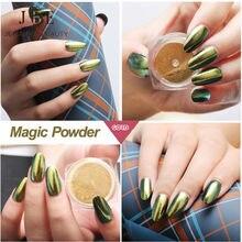 2g Mirror Chrome Powder Nail Glitter Pigment Ultrafine Powder 6 Color Nail Powder Magic Glimmer Nail Art Decoration Powder Polis