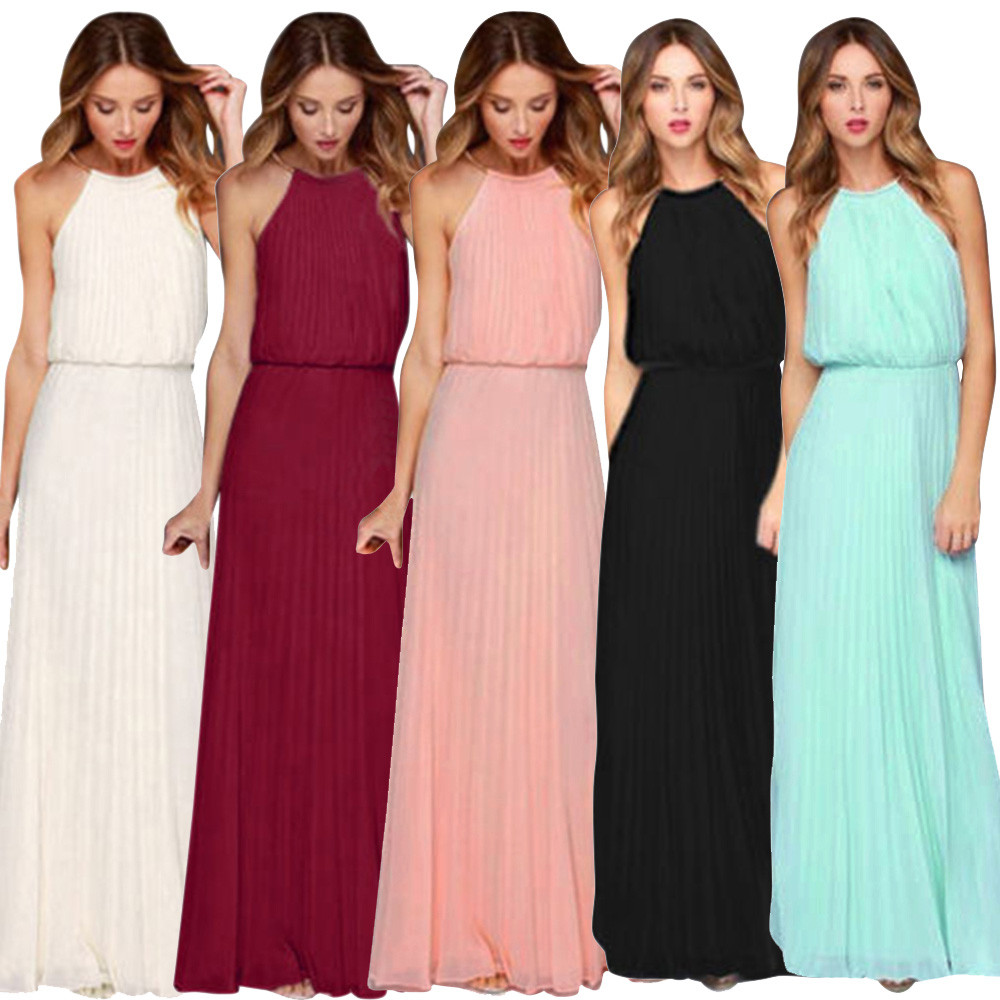 Casual  summer sexy maxi women dress evening party