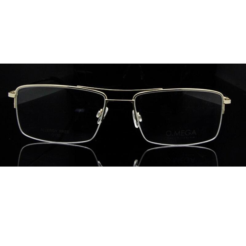 ESNBIE Hohe Qualität Titan Brillengestell Männer Halbrand Brillen ...