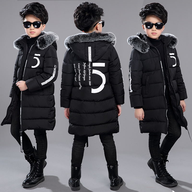 Clothing 15-Jacket Children-30-Degrees Boys Winter 10-Years-Old New Thick 13 12 14 Cotton