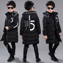 12 Children's Clothing 13 Boys 14 Winter Clothing 15 Jacket 2018 New Thick Cotton Thickening 10 Years Old Children -30 Degrees