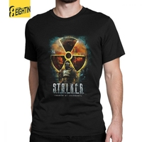 bc032ef060 Casual Tees Shirts Stalker Shadow Of Chernobyl Cool T Shirts Men S Organnic  Cotton Short Sleeve