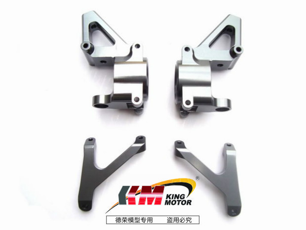 Free Shipping-Aluminum Front Hub Carrier (set of 2) Fits HPI Baja 5B, SS, 2.0, 5T 5SC King Motor and Rovan buggies and trucks детская садовая штыковая лопата brigadier 88007