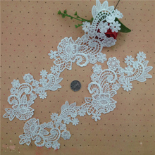 5 Pairs(10pcs) High Quality Delicate Embroidered Lace Applique Trim Dress DIY Accessories For Wedding