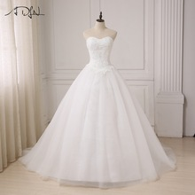 ADLN Jubah De Mariage Putri Putih / Gading Ball Gown Wedding Dress Plus Ukuran Sayang Lace Applique Vestido De Noiva
