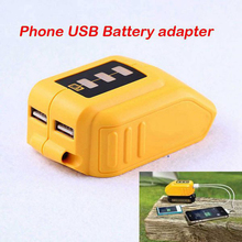 USB ממיר מטען עבור DEWALT 14.4V 18V 20V ליתיום סוללה ממיר DCB090 USB מכשיר טעינת מתאם חשמל אספקת