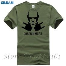 Mafia rusa Nueva Moda Hombre Tee de Algodon de Cuello de O Hombres de Manga Corta Para camiseta Hombre Camisetas Al Por Mayor