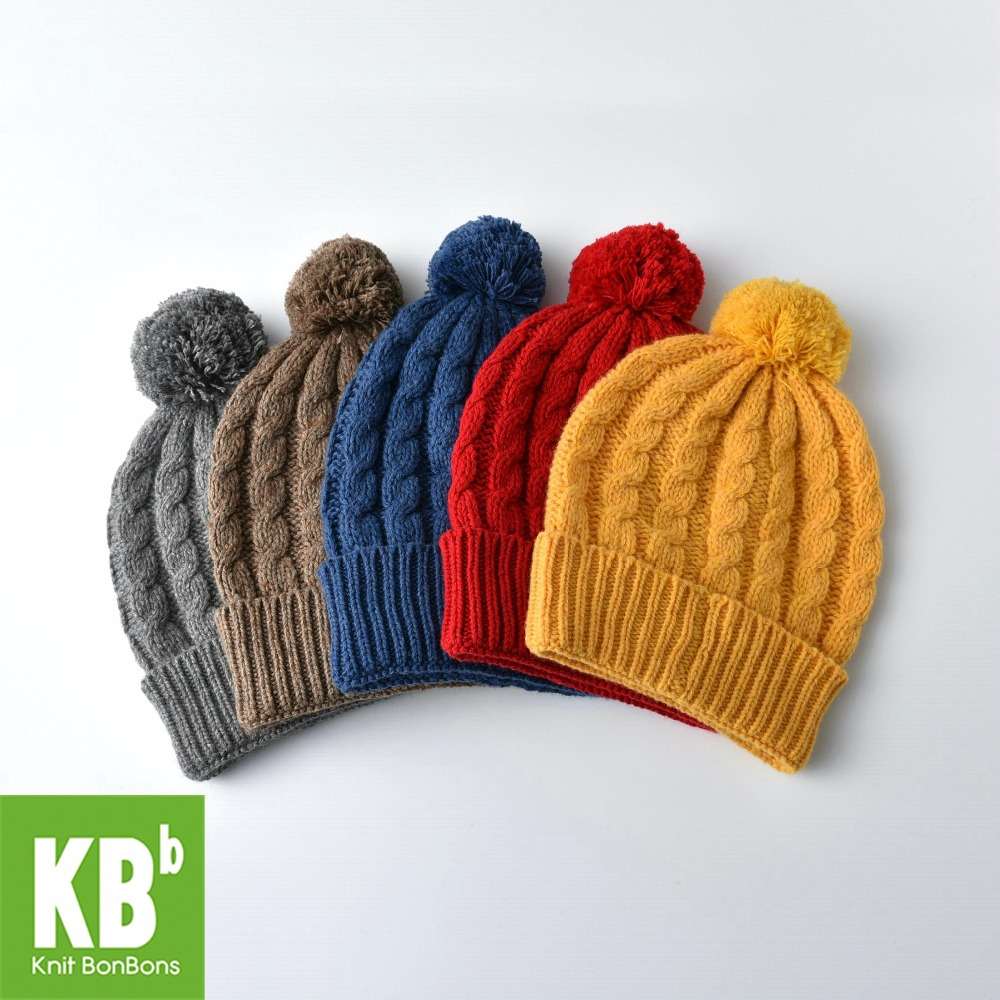 2017 KBB Spring     Wool Children Women Men Knit Warm Stylish Braid Fashion Design Red Winter Hat Beanie Female Cap the new children s cubs hat qiu dong with cartoon animals knitting wool cap and pile