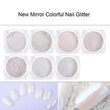 1g Mirror Glitter Nail Chrome Pigment Dazzling DIY Salon Micro Holographic Powder Laser Nail Art Decorations