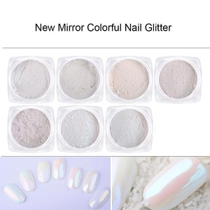 Image 3 - Mirror Glitter Nail Chrome Pigment Laser Holographic Silver Powder Nail Glitter Nail Art Decorations Manicure Tool CHB01 07 2