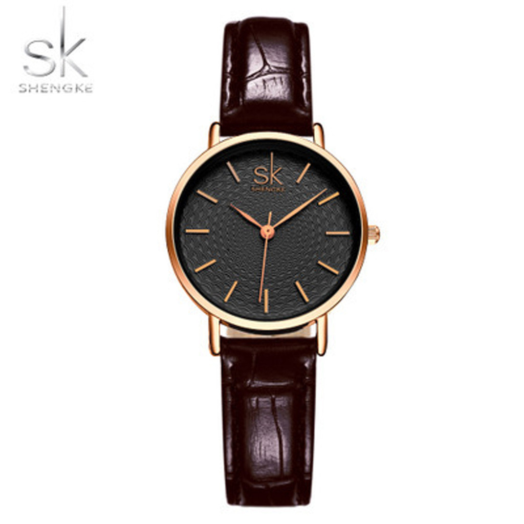 High Quality Automatic Eatch Leather Belt Ladies Waterproof Wrist Watch Luxury F