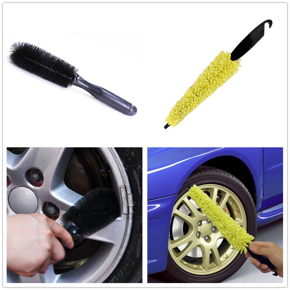 Car Wheel Wash Brush Cleaning Rims Tire Washing Tools for Mercedes Benz GLS63 GLS GLE43 B55 Shooting S400 ML450 GLA CLK Brushes & Dusters