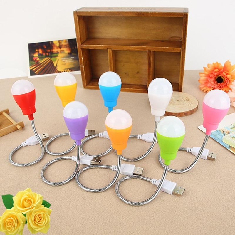 USB Portable Bulb Styling Small Desk Lamp High Quality Metal Coil Custom USB Energy Saving LED Lamp