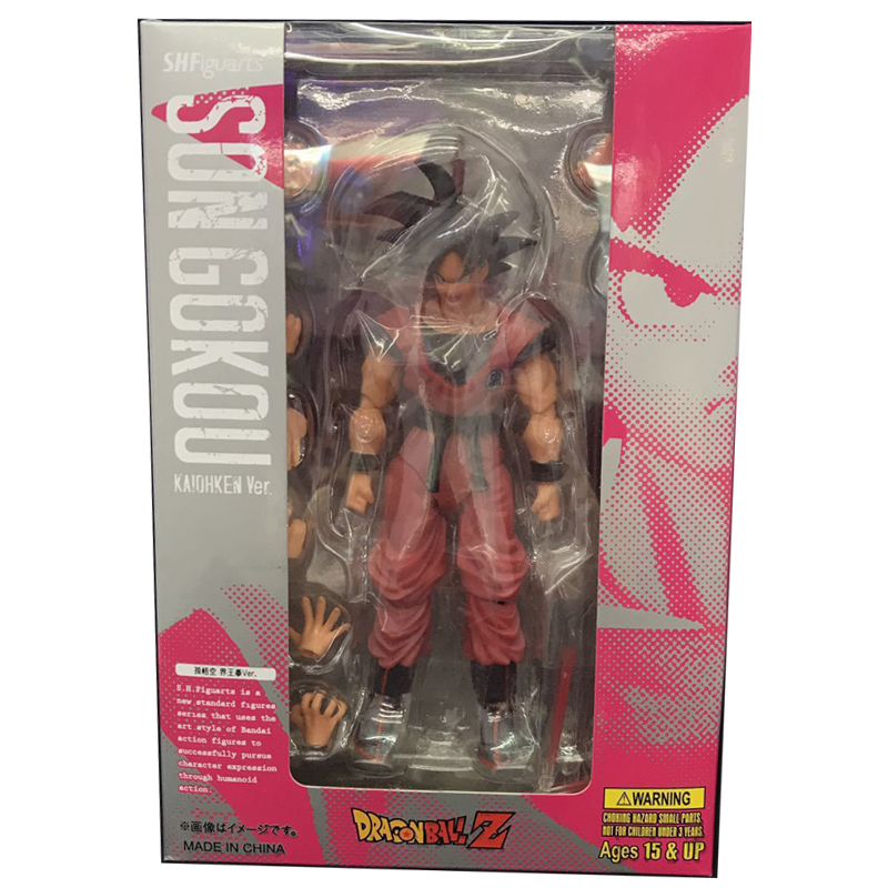 Boxed Dragon Ball Z SHF S.H.Figuarts Son Goku Kaiohken Ver. PVC Action Figure Collectible Model Toy shfiguarts dragon ball z son gokou goku kaiohken ver pvc action figure collectible model toy 16cm kt4229
