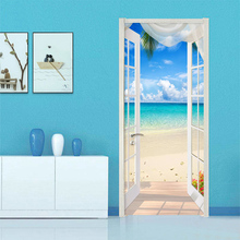 3D  Wallpaper Stereo Window Beach Seaside Landscape